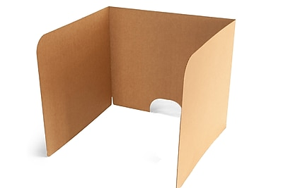 Classroom Products Computer Privacy Shield 24 Inch Tall - Kraft - (Pack of 10)