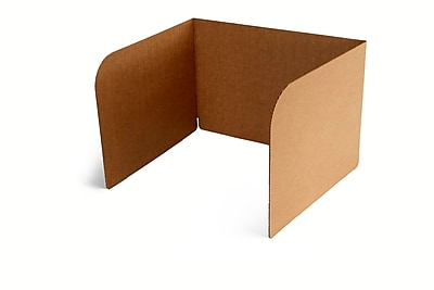 Classroom Products Privacy Shield 13 Inch Tall - Kraft -(Pack of 20)