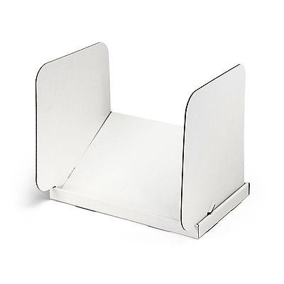 Classroom Products Tablet Privacy Shield - Tablet Stand and Mini Carrel In One - White - (Pack of 20)