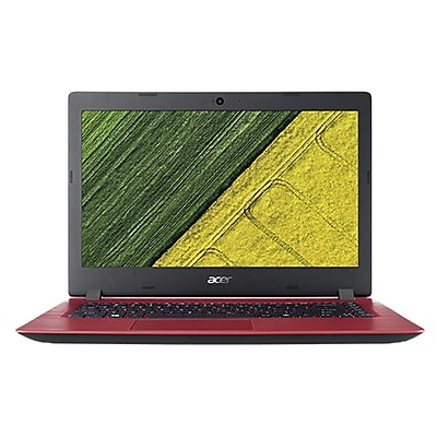 """Acer® Aspire 3 A5155150RR 15.6"""" Notebook, LCD, Intel Celeron N3350, 500GB HDD, 4GB, Win 10 Home, Oxidant Red"""