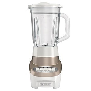 Black & Decker® PowerCrush 6-Cup Multi-Function Countertop Blender, White/Gold (BL1220GG)