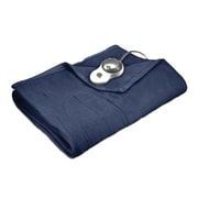 Sunbeam® Quilted Fleece Heated Blanket, Full, Newport Blue (BSF9GFSR59513A0)