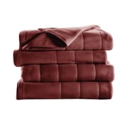 Sunbeam® Quilted Fleece Heated Blanket, Twin, Garnet (BSF9GTSR31013A0)