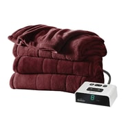 Sunbeam® Channeled Microplush Heated Blanket, Full, Garnet (BSM9KFSR31016A0)