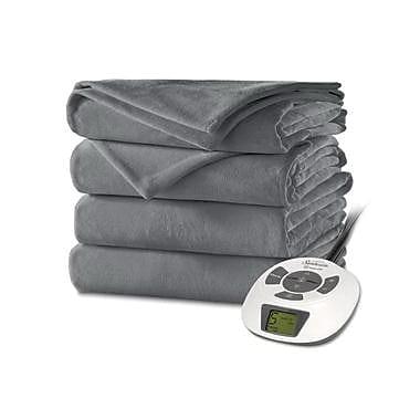 Sunbeam® Velvet Plush Heated Blanket, Full, Slate (BSV9GFSR82512A4)