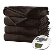 Sunbeam® Velvet Plush Heated Blanket, Twin, Walnut (BSV9GTSR47012A4)
