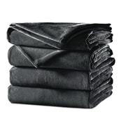 Sunbeam® Velvet Plush Heated Blanket, Twin, Slate (BSV9GTSR82512A4)