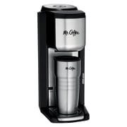 Mr. Coffee® BVMC-SCGB200 Single Cup Coffee Maker with Built-In Grinder, Black/Silver