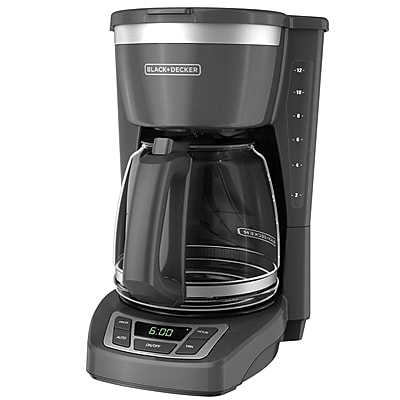 Black & Decker CM1160 12 Cup Programmable Coffee Maker, Gray 24254526