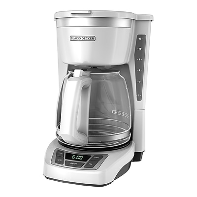 Black & Decker CM1160 12 Cup Programmable Coffee Maker, White 24254528