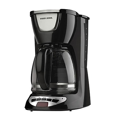 Black & Decker DCM100B 12 Cup Programmable Coffee Maker, Black 24254539