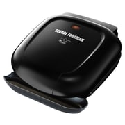 George Foreman® 2 Serving Basic Plate Electric Grill And Panini with Vertical Storage, Black(GR0040B)