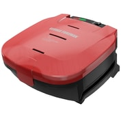 George Foreman® 2 Serving 5 Minute Basic Plate Burger Electric Grill, Red (GR1036BTR)