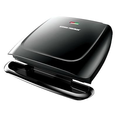 George Foreman® 8 Serving Basic Plate Electric Grill, Black (GR2120B)