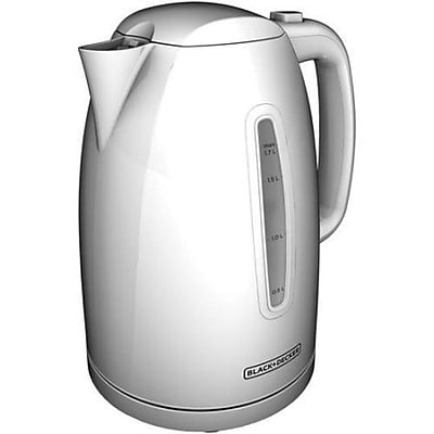Black & Decker® 7-Cup Plastic Cordless Electric Kettle, White (KE1500W)
