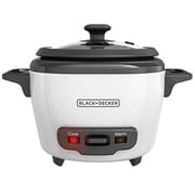 Black & Decker® 3-Cup Rice Cooker, White (RC503)