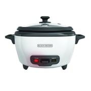 Black & Decker® 6-Cup Rice Cooker, White (RC506)