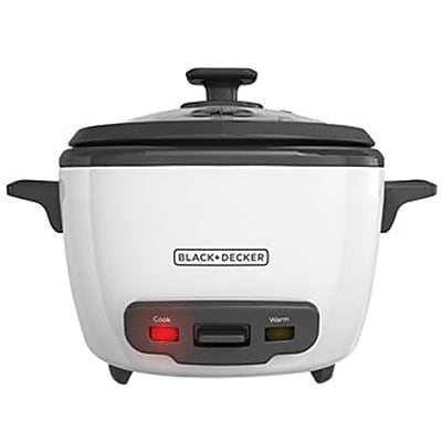 Black & Decker® 16-Cup Rice Cooker, White (RC516)