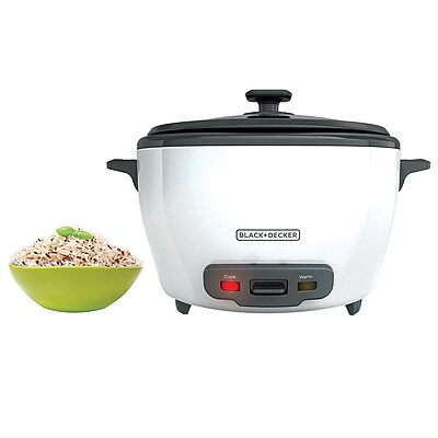 Black & Decker® 28-Cup Rice Cooker, White (RC5280)
