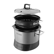Black & Decker® 20-Cup Rice Cooker, Silver (RCR520S)