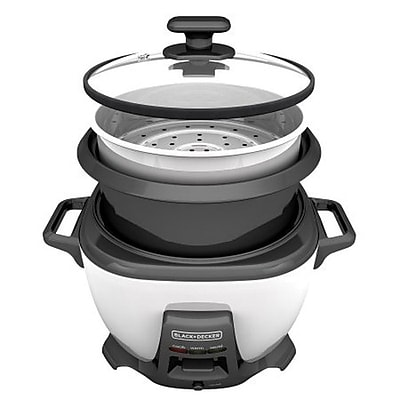 Black & Decker® 14-Cup Rice Cooker, White (RCS614)
