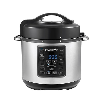 Crock-Pot® Express Crock 6 qt 8-In-1 Programmable Slow Cooker, Stainless Steel (SCCPPC600-V1)