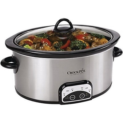 Crock-Pot® Smart-Pot® 6 qt Slow Cooker, Brushed Stainless Steel (SCCPVP600-S-A)
