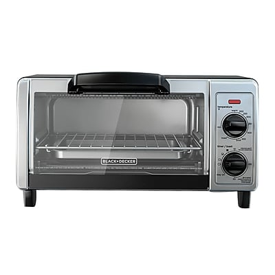 Black & Decker® Stainless Steel 4-Slice Countertop Toaster Oven, Black (TO1705SB)