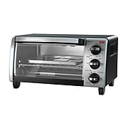 Black & Decker® Stainless Steel 4-Slice Natural Convection Countertop Toaster Oven, Silver/Black (TO1750SB)