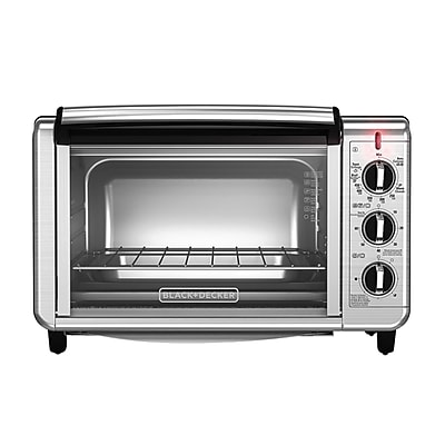 Black & Decker® Stainless Steel 6-Slice Convection Countertop Toaster Oven, Silver (TO3230SBD)