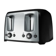 Black & Decker® 4-Slice Extra-Wide Slot Toaster, Silver/Black (TR1478BD)