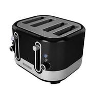 Black & Decker® 4-Slice Extra-Wide Slot Toaster, Black/Silver (TR4200SBD)