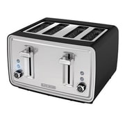 Black & Decker® 4-Slice Extra-Wide Slot Countertop Toaster, Black (TR4900SBD)