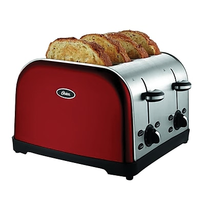 Oster® 4-Slice Extra-Wide Slot Toaster, Red Metallic (TSSTTRWF4R)