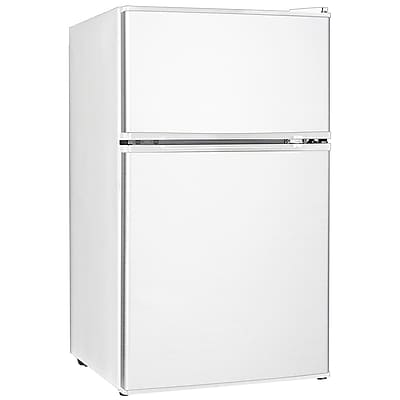 Midea® 3.3 cu. ft. Double Reversible Door Refrigerator And Freezer, White (WHD113FW1)