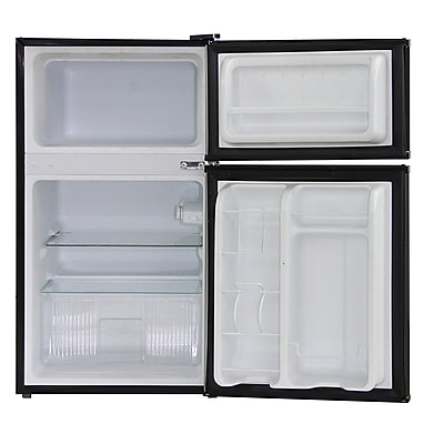 Midea® 3.5 cu. ft. Double Reversible Door Compact Refrigerator, Black (WHD125FB1)