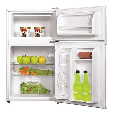 Midea® 3.5 cu. ft. Double Reversible Door Compact Refrigerator, White (WHD125FW1)