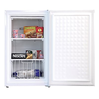 Midea® 3 cu.ft. Single Reversible Door Compact Upright Freezer, White (WHS109FW1)