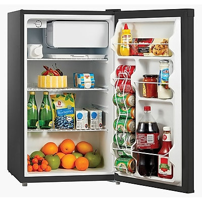 Midea® 4.4 cu. ft. Single Reversible Door Compact Refrigerator And Freezer, Black (WHS160RB1)