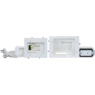 Datacomm Electronics 45-0024-Wh Recessed Pro-Power Kit With Straight Blade Inlet (DCM450024WHDS)