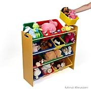 Mind Reader 4 Tier Wood Toy Organizer, Brown (4TOYG-BRN)