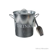 Mind Reader Metal Ice Bucket with Scooper, Silver (IBUCK-SIL)
