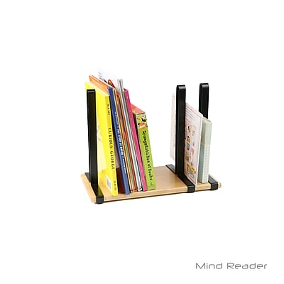 Mind Reader 3 Pole Magazine Rack Divider and Holder, Black (MAGPOLE-BLK)