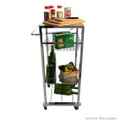 Mind Reader Chop Block Mobile Kitchen Cart, Silver (CHOPCART-SIL)