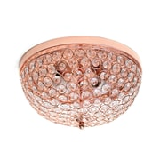 Elegant Designs Incandescent Flush Mount, Rose Gold (FM1000-RGD)