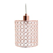 Elegant Designs Incandescent Pendant, Rose Gold (PT1001-RGD)
