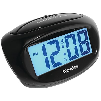 Westclox 70043X Large Easy-To-Read Lcd Battery Alarm Clock (NYL70043XDS)