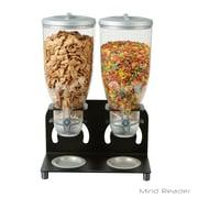 Mind Reader Metal Double Standing Cereal Dispenser, Black (KELL200-BLK)