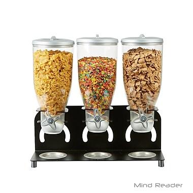 Mind Reader Metal Triple Standing Cereal Dispenser , Black (KELL300-BLK)