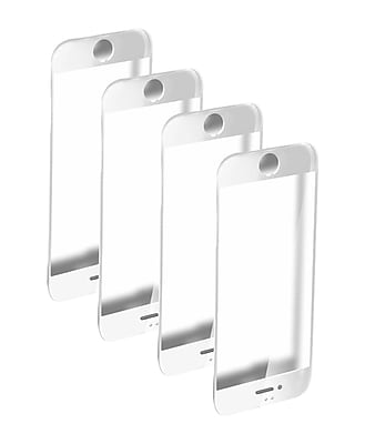 iPhone 8 Plus Premium Tempered Glass Protectors 4 Pack, White (DSPIP8PLUSWHTX4)